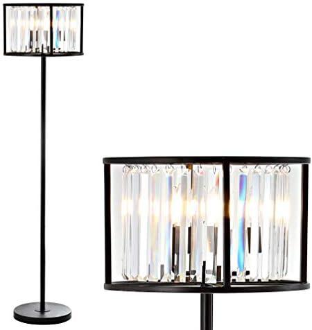 JONATHAN Y JYL9054A Bevin 63″ Metal/Crystal LED Floor Lamp