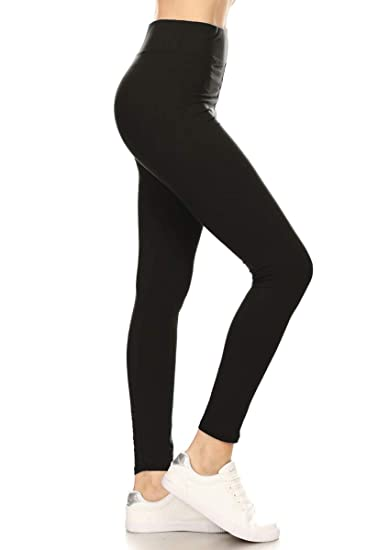 d1e858cdb5 Leggings Depot Ultra Soft Basic Yoga Solid Leggings at Amazon ...