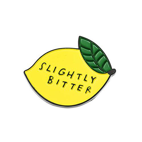 Lemon Enamel - Ms.Clover Slightly Bitter Lemon Enamel Pin, Summer Style Funny Pins Brooch Gift for Her - Birthday Gift.