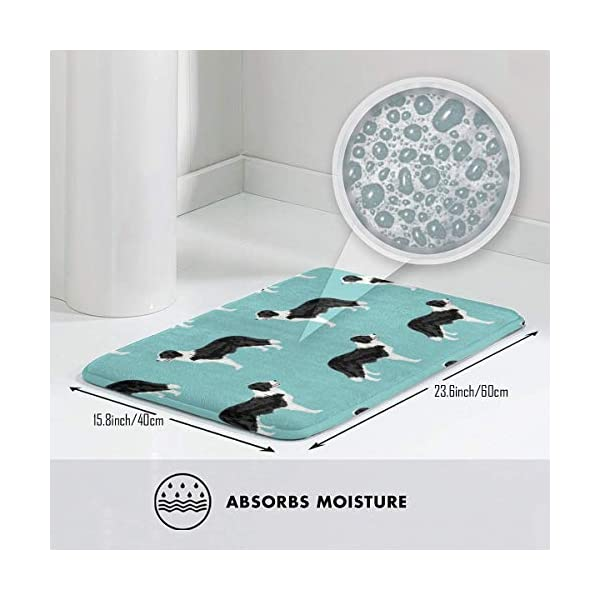 "Pillow Bags Cute Border Collies Designs Best Dog Fabrics Cute Dog Designs Border Collies Fabrics Floor Bath Entrance Rug Mat Absorbent Indoor Bathroom Decor Doormats Rubber Non Slip 15.7"" X 23.5"" 3"