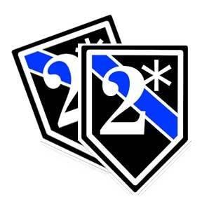 2 Ass To Risk Blue Line Police Decal (K9 officer sticker) 2 asterisk - 4 (Asterisk Decal)