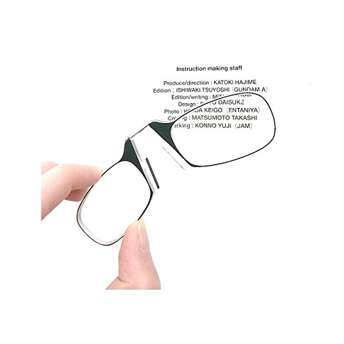 - Reading Glasses + Black Universal Pod Case | Classic Collection, Clear Frames (Black, 2.0)