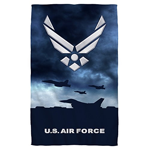 Air Force Take Off Golf Towel W Grommet White 16X24