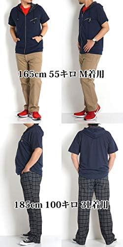 パーカー メンズ 大きいサイズ 半袖 無地 迷彩 M L LL 3L 4L 5L