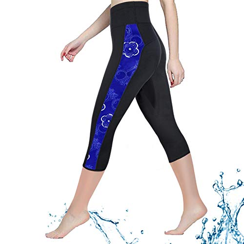 - CtriLady Women Neoprene Wetsuit Pants 2.5mm Keep Warm Legging Swimming Diving Snorkeling Surfing (Black, X-Large)