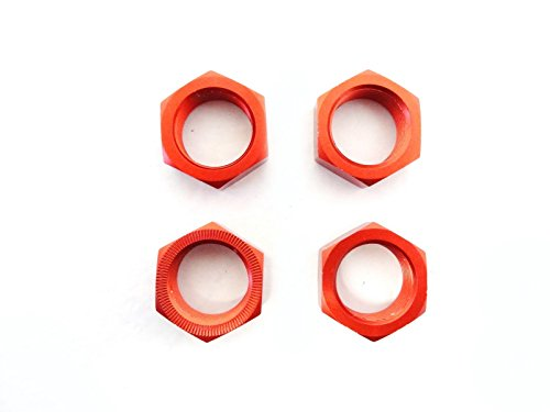 Rovan RC Baja Open Stock Style Aluminum Wheel Nuts (orange) Fits HPI Baja 5b, 5t, 5SC King Motor Buggies and (Hpi Baja 5b 1/5 Buggy)