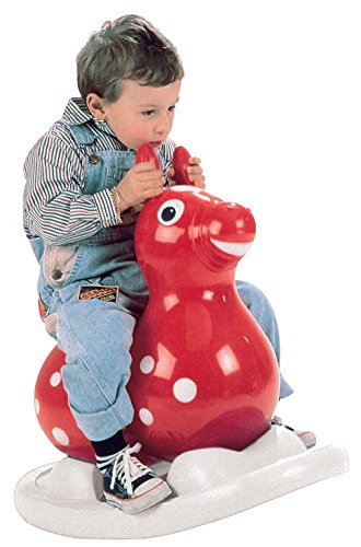 (Gymnic 80.01 Inflatable Rocking Rody Rider with Base, Red/Yellow)