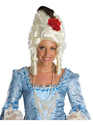 Secret Wishes  Costume Marie Antoinette Wig with Rose, White, One Size
