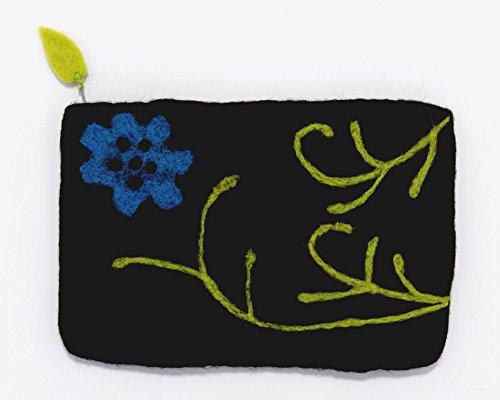 Frabjous Fibers Poppy Notions or Needlecase Bag (Black) by Frabjous Fibers