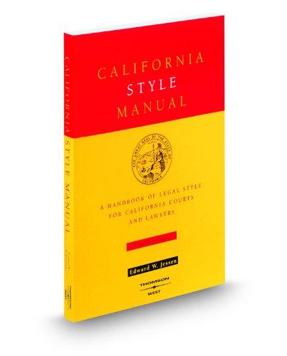 Pdf Law California Style Manual, 4th