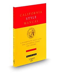 California Style Manual 4th