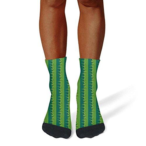 - Milr Gile Unisex Green Cactus Thorn Crew Tube Socks Crazy Novelty Socks High Athletic Socks