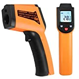 HITRENDS Digital Laser Infrared Thermometer (-58℉ ~752℉/ -50°C~400°C), Non Contact Temperature Gun, Accurate Surface IR Thermometer