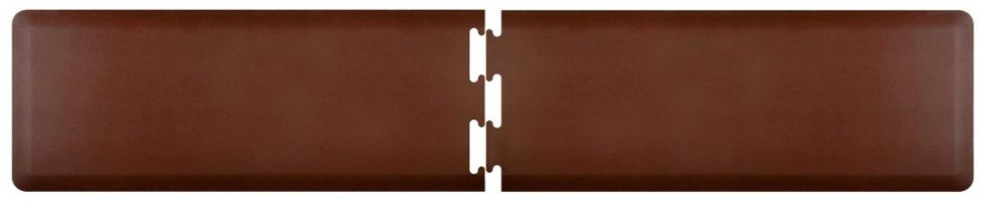 WellnessMats Anti-Fatigue 9.5 Feet by 2 Feet Puzzle Set Kitchen Mat, Brown