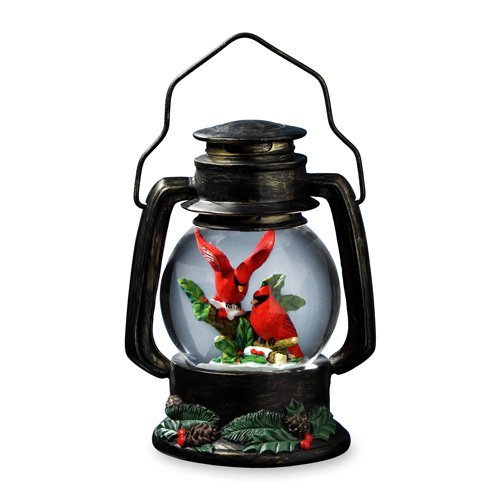 Cardinals Antique Lantern Snow Globe by The San Francisco Music Box Company 842970052333