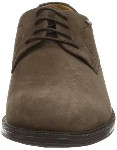 Clarks ChilverWalkGTX - zapatos con cordones de cuero hombre Marrón (Dark Brown Nub)