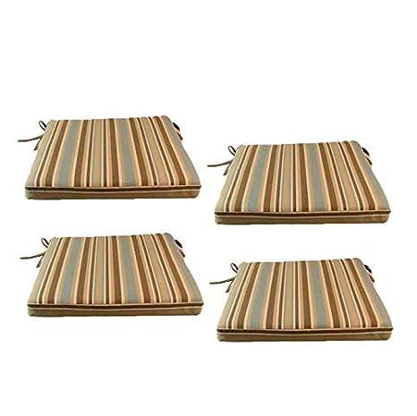 Edenjardi Pack 4 Cojines para sillas y sillones de jardín ...