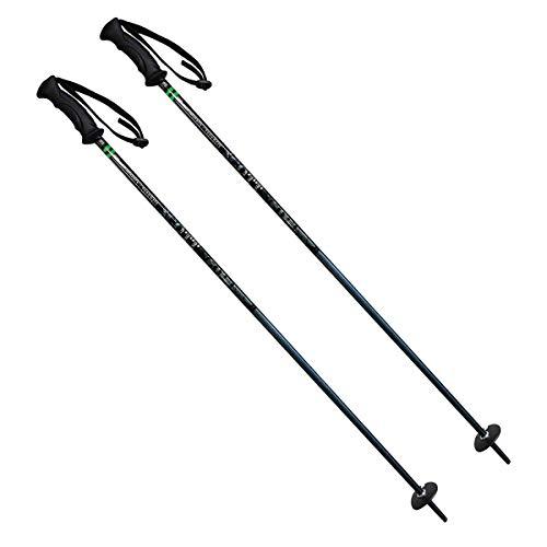 Scott Aspen Snowmass Junior Alpine Ski Poles, Grip Handles with Strap, Cone Tip (34