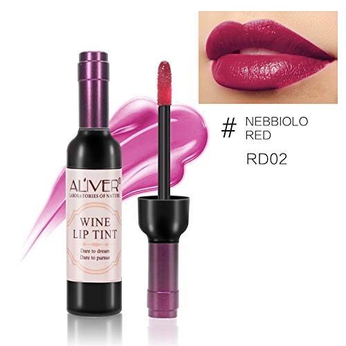 6 set Wine Bottle Lip gloss Tint Water Proof Lipstick Tint, Long Lasting Kiss proof, Non-stick Cup Lipstick Gloss by ELAIMEI (Image #6)