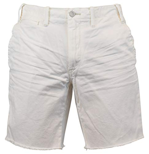 (Polo Ralph Lauren Straight Fit Cutoff Chino Shorts (38, White))