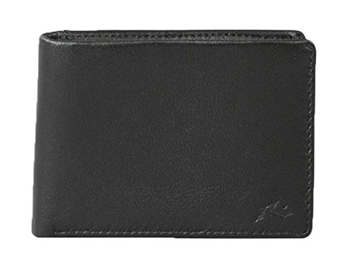 Rusty Ground Leather Wallet - Black -