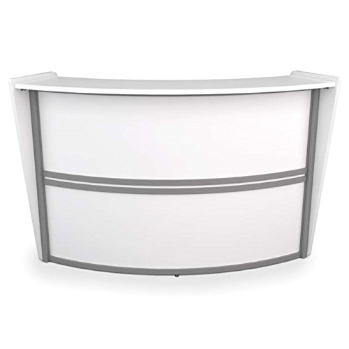 Pemberly Row Single Unit Curved Reception Station in White