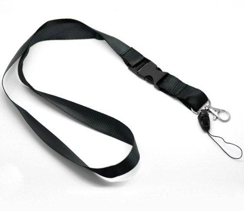 CKB Ltd 5x Detachable Dual Noir Cordon Lanyard courroie de cou Strap lanière Metal & Loop Clip For Carte ID Support De Badge Card Holder CKB Ltd®