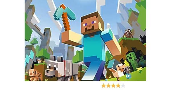 Casa Dolce Casa - Minecraft - Oblea Personalizable para Tarta, diseño de Minecraft - Kit n.º 1 CDC (1 oblea Impresa en Hoja A4, 210 x 297 mm): Amazon.es: Juguetes y juegos