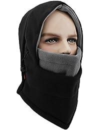 Lightweight Balaclava Windproof Ski Face Mask For Men Women and Children Soft Warm Fleece Ear-Flap Winter Hat/Hood For Outdoor Sports
