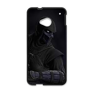 HTC One M7 Cell Phone Case Black_Mortal Kombat - Scorpion FY1582980