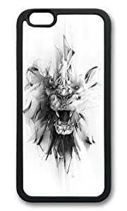 Apple Iphone 6 Case,WENJORS Adorable STONE LION Soft Case Protective Shell Cell Phone Cover For Apple Iphone 6 (4.7 Inch) - Hard Black