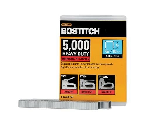 BOSTITCH BTA706-5C Heavy Duty Construction Staples, 3/8 x 2/5-Inch, 5000-Pack Stanley Tools