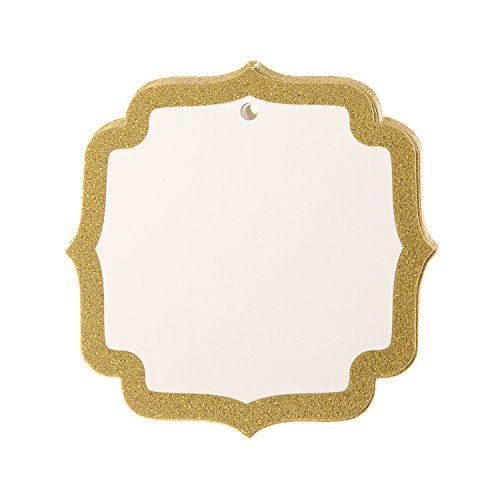 Darice Glitter Gold Shield Shaped Tags, 15 ()