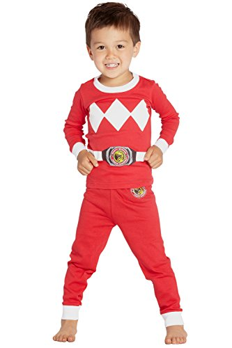 Intimo Boys' Toddler Mighty Morphin Red Ranger Pajama Set, 2T ()