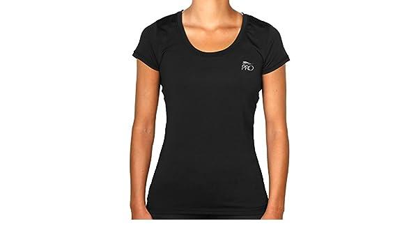 Crivit Pro TOPCOOL Womens Sport Running Exercise Fitness Top Short Sleeve T-Shirt Shirt (Small, Black)