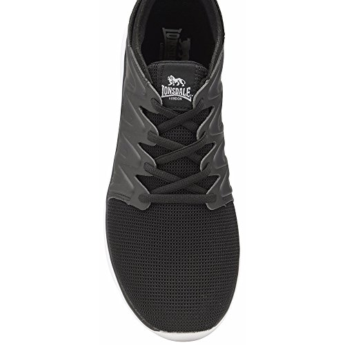 up Mens Trainers Lonsdale Peru White Black Lace dFnntx4
