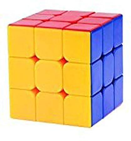 Balaji Sales Plastic High Stability Stickerless - 3X3X3 Speed Cube with Adjustable Tightness (Multicolour)