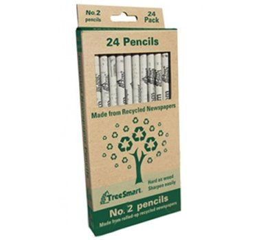 Recycled Newspaper Pencils - Set of 24