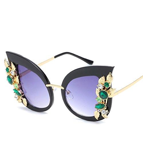 black De TIANLIANG04 Gafas Gato Ojo Ojo Uv400 Sol Gato Gris Gafas De Negro Mujeres De r6FqT6