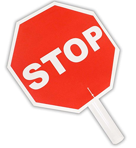 (Economical Hand-Held Stop Sign | Lightweight)