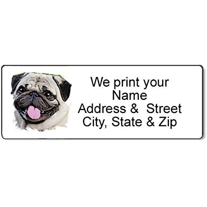 amazon com pug address label customized return address label