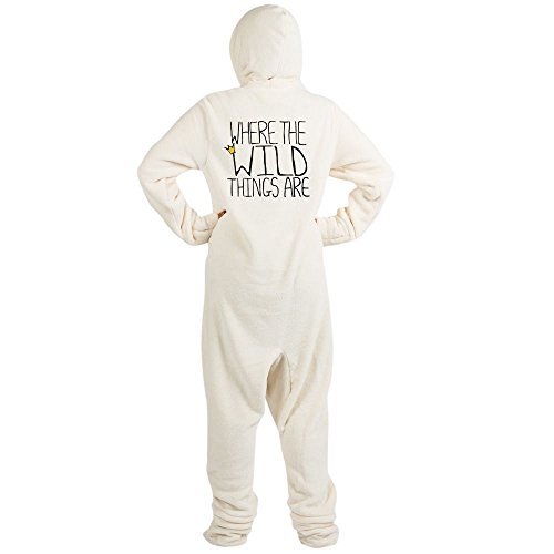 CafePress - Wild Things' - Novelty Footed Pajamas, Funny Adult One-Piece PJ Sleepwear Creme