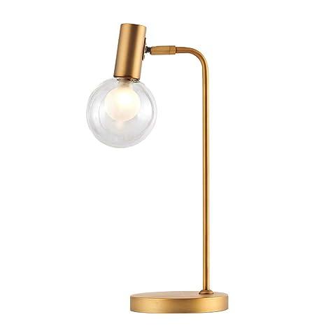 BEDKING Retro Brass E14 Lámpara de Mesa Luz de Cristal de ...