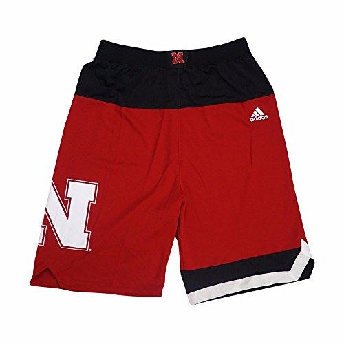 Ncaa Shorts Adidas - adidas Nebraska Cornhuskers NCAA Red Official Road Away Replica Basketball Shorts for Youth (M)