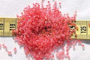 11/0 Miyuki Delica Seed Beads Dark Coral Lined Crystal AB DB0075 / 5 Grams Spacer Beads and Roll Crystal String for Bracelets Jewelry -