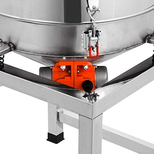 Happibuy Automatic Powder Sifter Shaker Machine 110V 300W Flour Sieve Machine Stainless Steel 2 Screens Industrial (Silver) by Happibuy (Image #6)