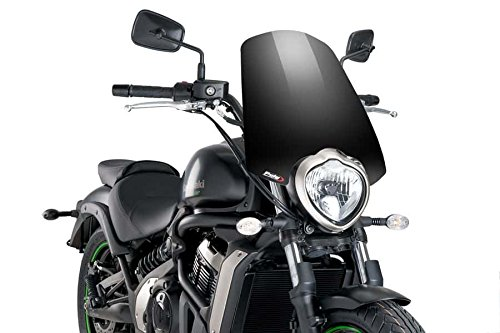 Puig Windscreen - Puig 8164N Windshield Naked New Generation Touring Windscreen 2015-2018 Kawasaki Vulcan S Black Screen