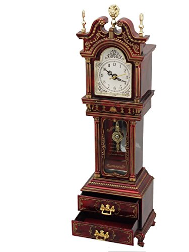 MusicBox Kingdom Grandfather Clock with Well Known Melody is Played Decorative Item (Grandfathers Clock Music Box)