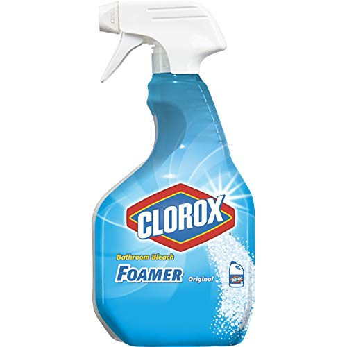 Clorox Disinfecting Bathroom Foamer with Bleach Original, 30 Ounce Spray Bottle (Package May Vary)
