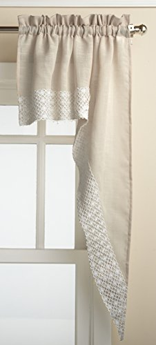 Lorraine Home Fashions Salem 60-inch x 38-inch Tailored Swag Pair, French Vanilla